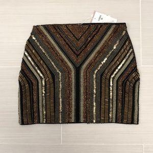 Nasty Gal Skirts - Nasty Gal Beaded Stripe Mini Skirt